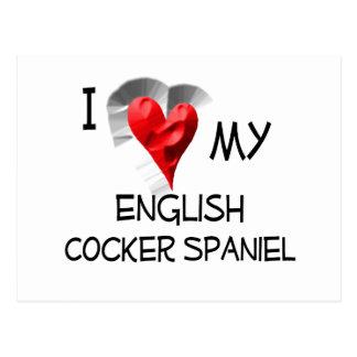 Cartão Postal Eu amo meu cocker spaniel inglês