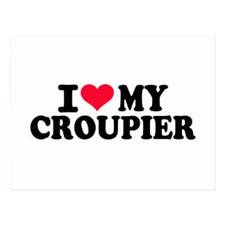 Cartão Postal Eu amo meu Croupier