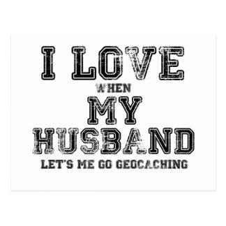 Cartão Postal Eu amo meu marido!