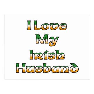 Cartão Postal Eu amo meu marido irlandês