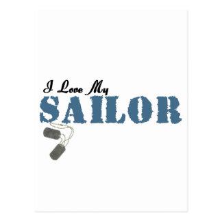 Cartão Postal Eu amo meu marinheiro