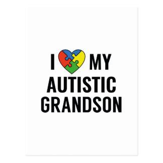 Cartão Postal Eu amo meu neto autístico