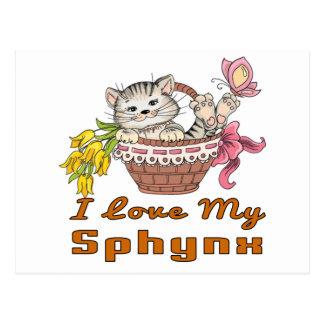 Cartão Postal Eu amo meu Sphynx