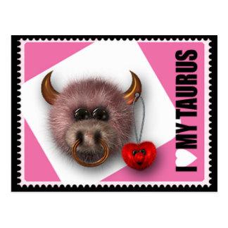 Cartão Postal Eu amo meu Taurus
