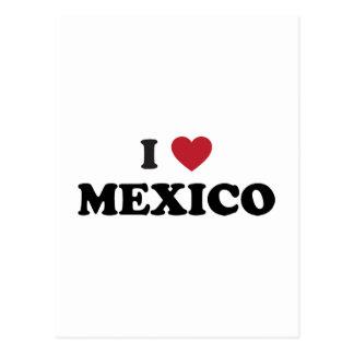 Cartão Postal Eu amo México