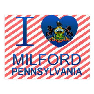 Cartão Postal Eu amo Milford, PA