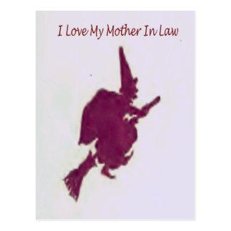 Cartão Postal Eu amo minha mãe em law1