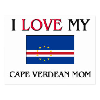 Cartão Postal Eu amo minha mamã cabo-verdiana
