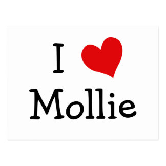 Cartão Postal Eu amo Mollie