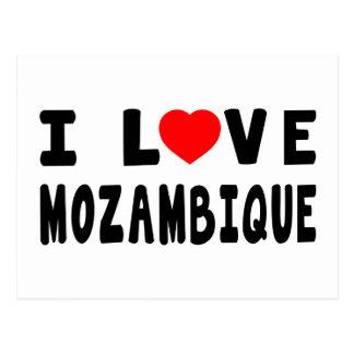 Cartão Postal Eu amo Mozambique