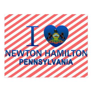 Cartão Postal Eu amo Newton Hamilton, PA