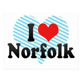 Cartão Postal Eu amo Norfolk