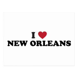 Cartão Postal Eu amo Nova Orleães Louisiana