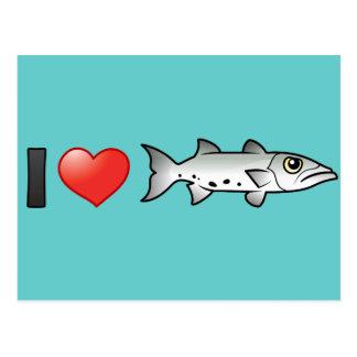 Cartão Postal Eu amo o Barracuda