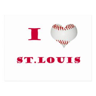 Cartão Postal Eu amo o basebol de St Louis