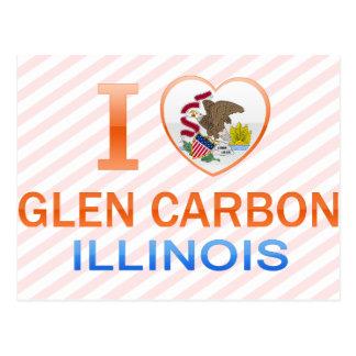 Cartão Postal Eu amo o carbono do vale, IL