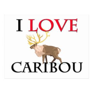 Cartão Postal Eu amo o caribu