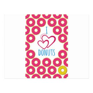 Cartão Postal Eu amo o cartaz das rosquinhas