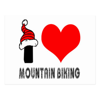 Cartão Postal Eu amo o design Biking da montanha