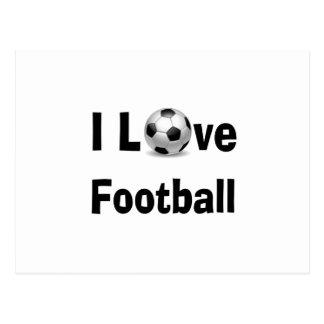 Cartão Postal Eu amo o futebol