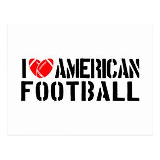 Cartão Postal Eu amo o futebol americano