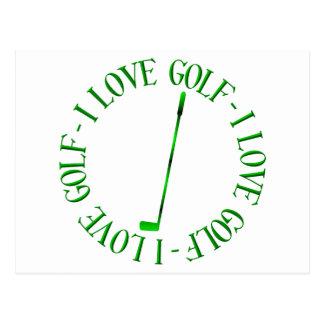 Cartão Postal Eu amo o golfe!