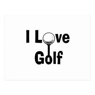 Cartão Postal Eu amo o golfe