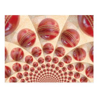 Cartão Postal eu amo o grilo que as bolas vermelhas personalizam