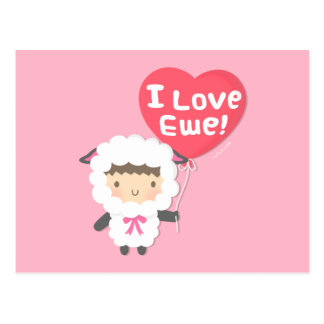 Cartão Postal Eu amo o humor bonito da chalaça dos carneiros da