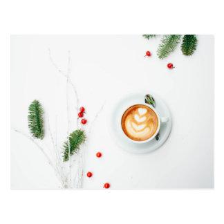 Cartão Postal Eu amo o Natal um Latte