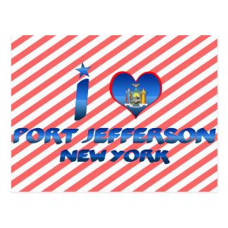 Cartão Postal Eu amo o porto Jefferson, New York
