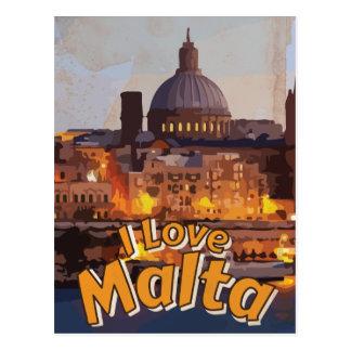 Cartão Postal Eu amo o poster das viagens vintage de Matla