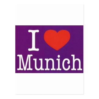 Cartão Postal Eu amo o roxo de Munich