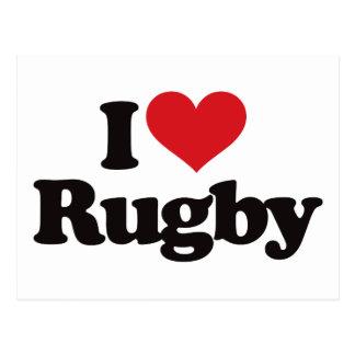 Cartão Postal Eu amo o rugby
