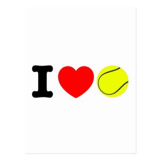 Cartão Postal Eu amo o tênis