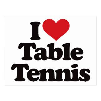 Cartão Postal Eu amo o ténis de mesa