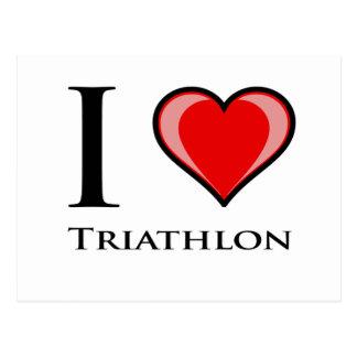 Cartão Postal Eu amo o Triathlon
