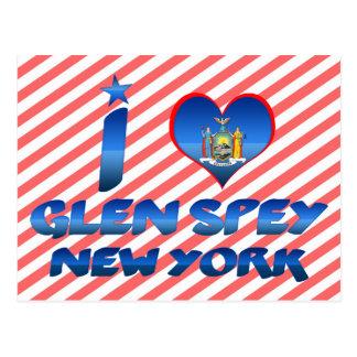 Cartão Postal Eu amo o vale Spey, New York