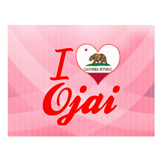 Cartão Postal Eu amo Ojai, Califórnia