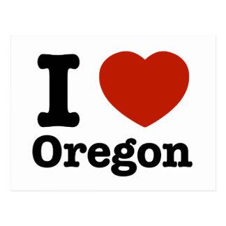 Cartão Postal Eu amo Oregon