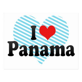 Cartão Postal Eu amo Panamá