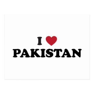 Cartão Postal Eu amo Paquistão