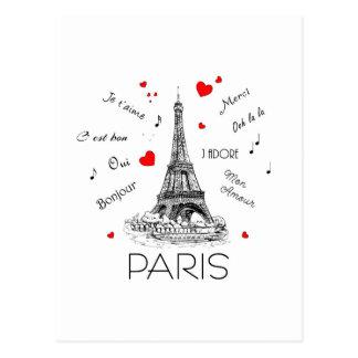 Cartão Postal Eu amo Paris, caso amoroso de segunda-feira