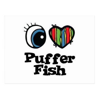 Cartão Postal Eu amo peixes do soprador (do coração)