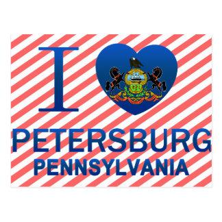 Cartão Postal Eu amo Petersburgo, PA