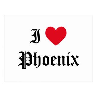 Cartão Postal Eu amo Phoenix