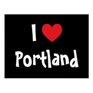 Cartão Postal Eu amo Portland