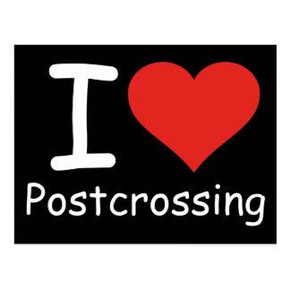 Cartão Postal Eu amo Postcrossing