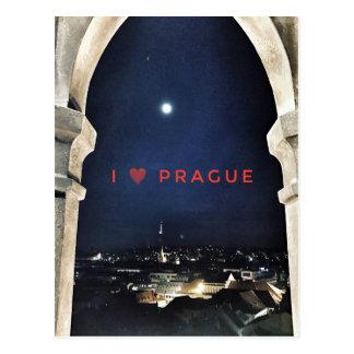 Cartão Postal Eu amo Praga