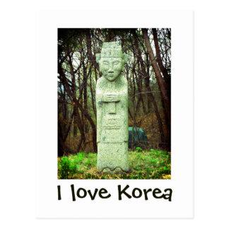 Cartão Postal Eu amo produtos de Coreia